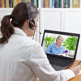 Genetic counselor providing telehealth service